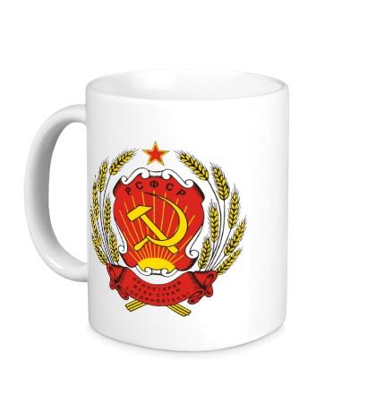 Керамическая кружка Герб РСФСР