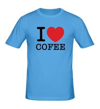 Мужская футболка I love coffee