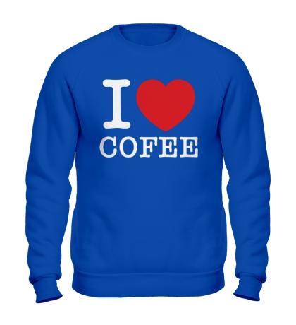 Свитшот I love coffee