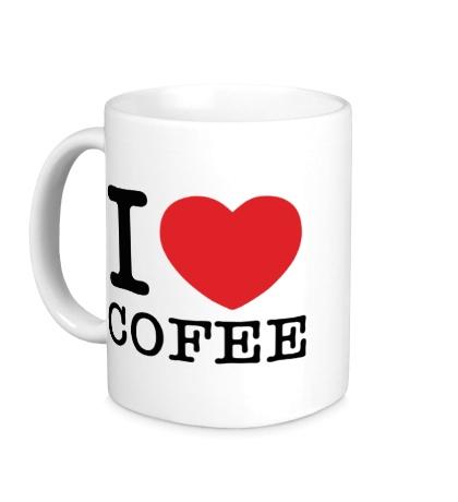 Керамическая кружка I love coffee