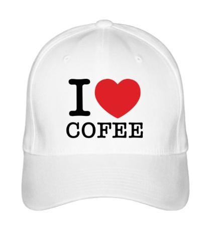Бейсболка I love coffee