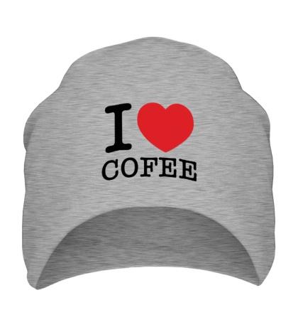 Шапка I love coffee