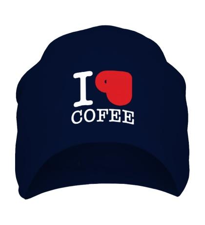 Шапка I love coffee with cup