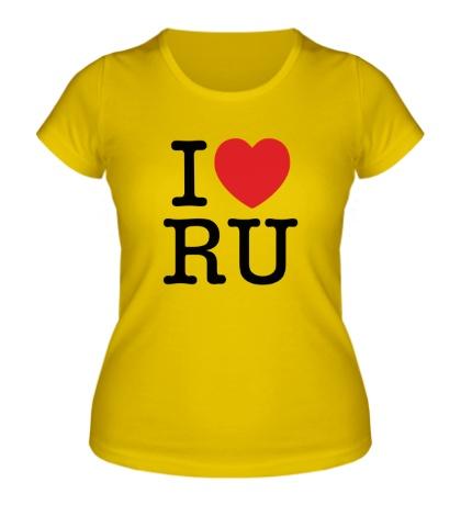 Женская футболка I love RU