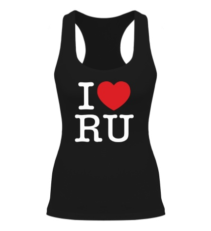 Женская борцовка I love RU
