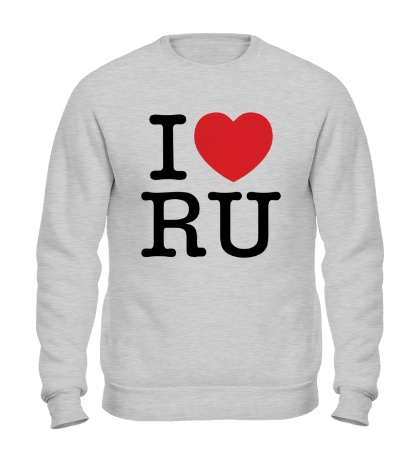 Свитшот I love RU