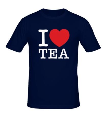 Мужская футболка I love tea