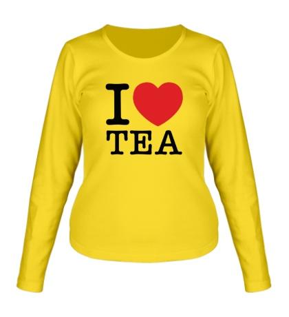 Женский лонгслив I love tea