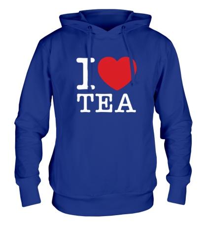 Толстовка с капюшоном I love tea