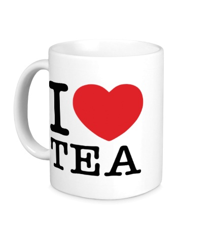 Керамическая кружка I love tea