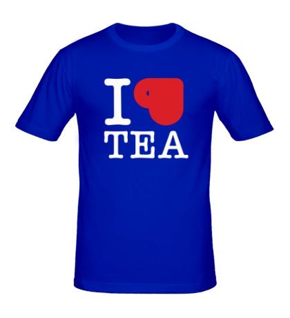 Мужская футболка I love tea with cup