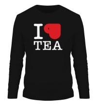Мужской лонгслив I love tea with cup
