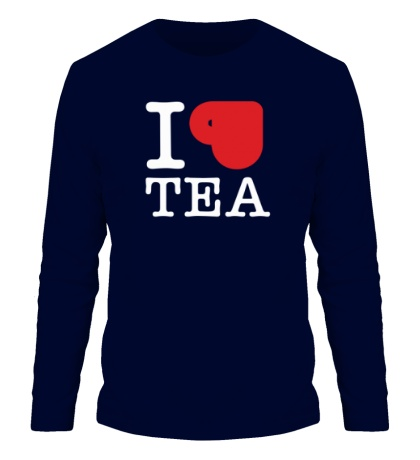 Мужской лонгслив I love tea with cup