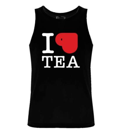Мужская майка «I love tea with cup»