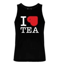 Мужская майка I love tea with cup