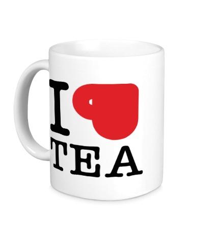 Керамическая кружка I love tea with cup