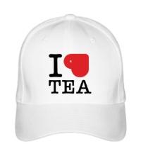 Бейсболка I love tea with cup