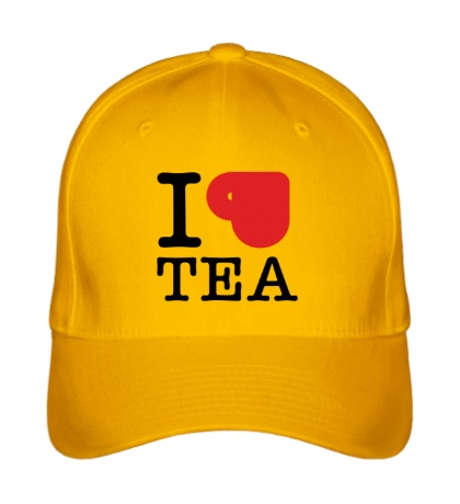 Бейсболка I love tea with cup