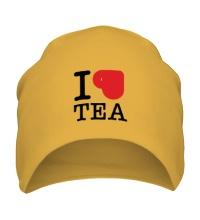 Шапка I love tea with cup