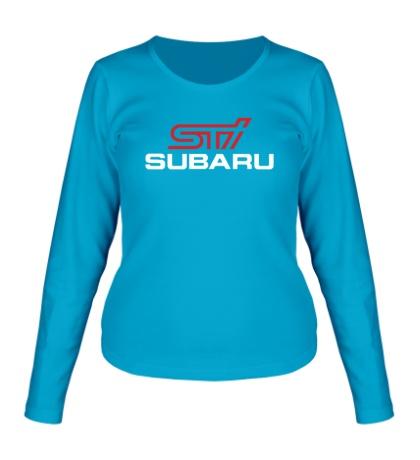 Женский лонгслив Subaru STI