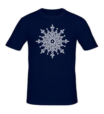 Мужская футболка Снежинка из кельтских узоров