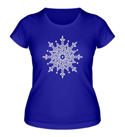 Женская футболка Снежинка из кельтских узоров