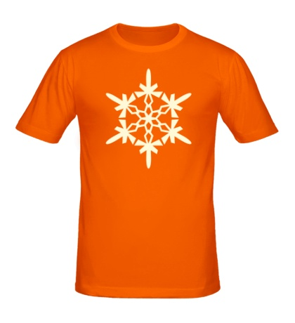Мужская футболка Геометрическая снежинка