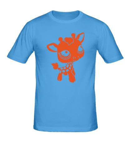 Мужская футболка Маленький жирафик