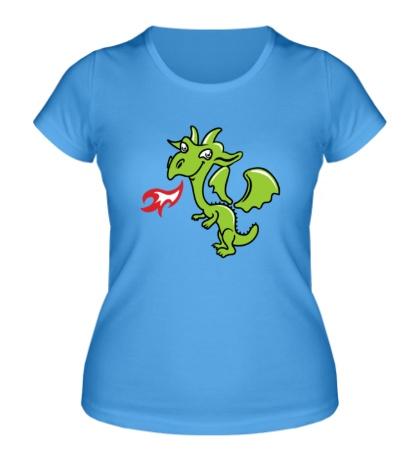 Женская футболка Маленький дракончик