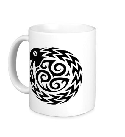 Керамическая кружка Символ змеи