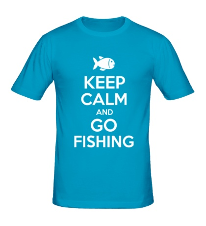 Мужская футболка Keep Calm & Go Fishing
