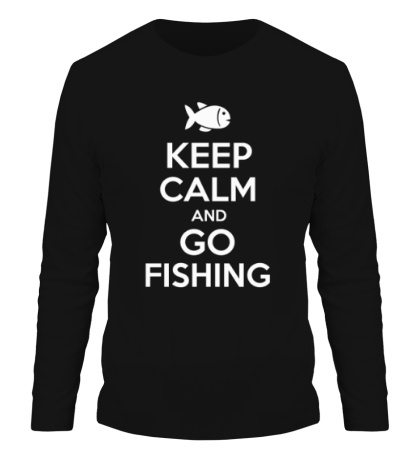 Мужской лонгслив Keep Calm & Go Fishing