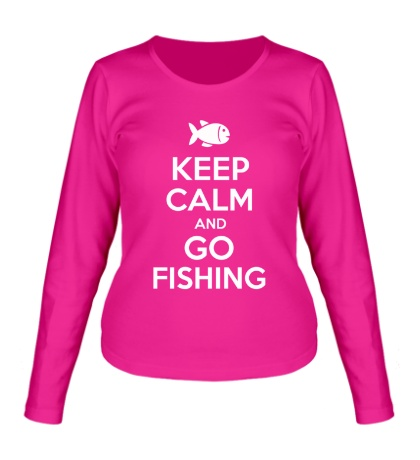 Женский лонгслив Keep Calm & Go Fishing