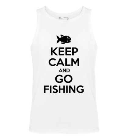 Мужская майка Keep Calm & Go Fishing