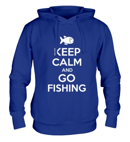 Толстовка с капюшоном Keep Calm & Go Fishing