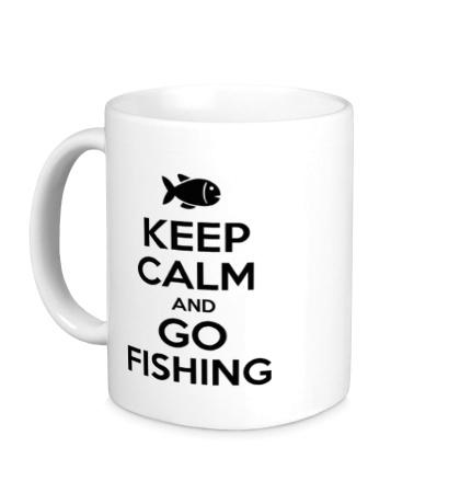 Керамическая кружка Keep Calm & Go Fishing