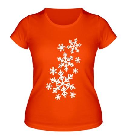 Женская футболка Снегопад