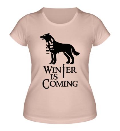 Женская футболка Winter is Coming: Dog