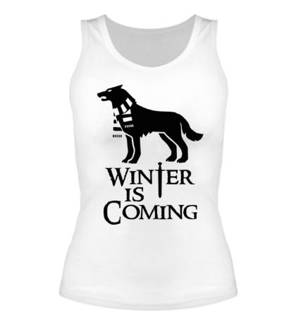 Женская майка Winter is Coming: Dog