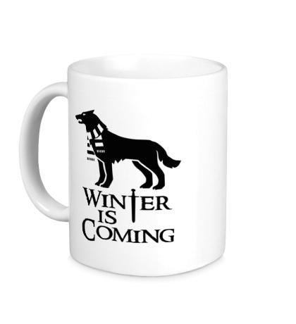 Керамическая кружка Winter is Coming: Dog