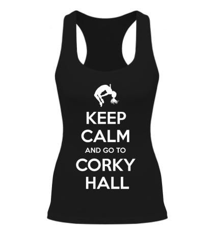 Женская борцовка Keep Calm and go to Corky Hall