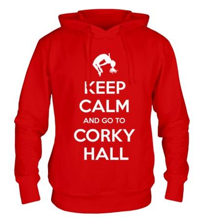 Толстовка с капюшоном Keep Calm and go to Corky Hall