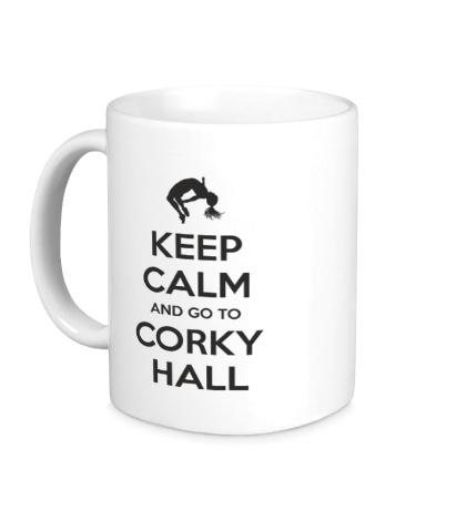 Керамическая кружка Keep Calm and go to Corky Hall