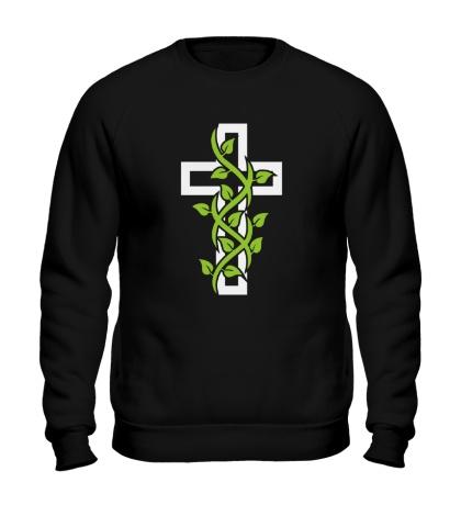 Свитшот Крест с вьюнком