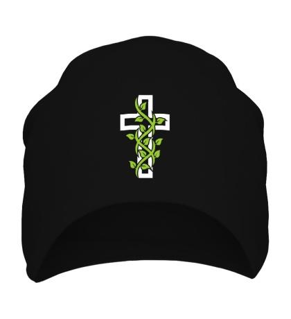 Шапка Крест с вьюнком