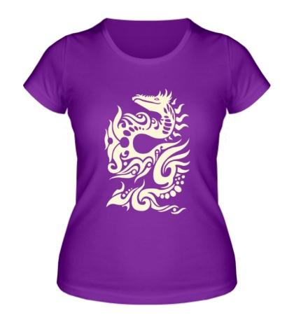 Женская футболка Тату в виде дракона