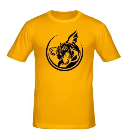 Мужская футболка Злой дракон