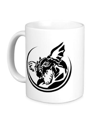 Керамическая кружка Злой дракон