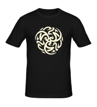 Мужская футболка Арабский сюрикен, свет