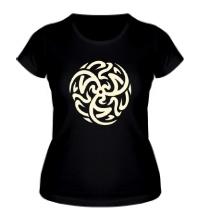 Женская футболка Арабский сюрикен, свет